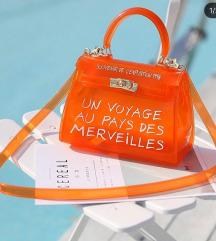 Pvc neon oranz torbica NOVA