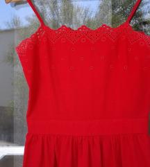 Vintage crvena haljina - vez