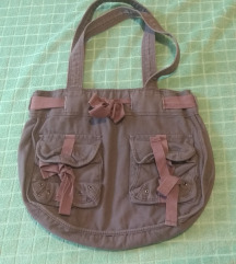 Braon platnena H&M torba