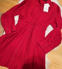 Crvena Zara haljina NOVA sa et.