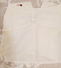 Bela kratka suknja Passage