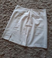 Mini krem prugasta suknjica