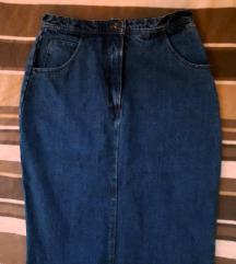 Dugacka teksas suknja izuzetno kvalitetna