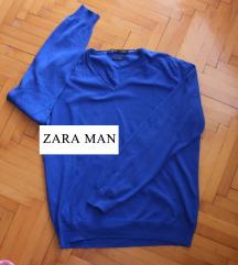 ZARA MAN kraljevsko plavi muški džemper NOVO