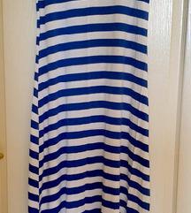 Mornarska haljina sa vezivanjem na ledjima vel XL