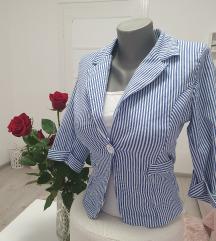 Plavo beli sako