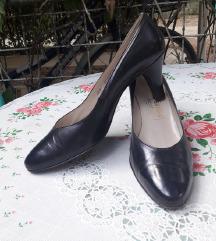 BALLY kozne teget salonke cipele 36.5/23cm