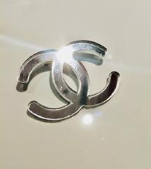 Chanel silver 3x2,5cm