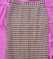 Roze-crna vunena suknja, vel. 42/44