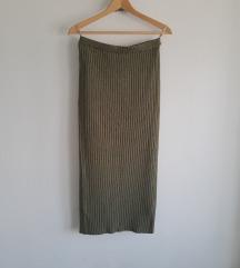 Maslinasta ribbed suknja trikotaža M/L
