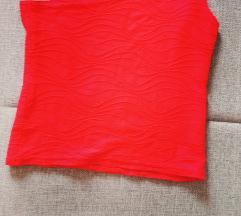 Crvena majcica na 1 rame  kratka