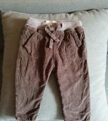 Zara zimske somot pantalonice 86