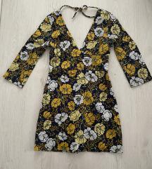 Zara nova cvetna haljina otvorenih ledja