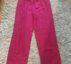 Zara pink pantalone sa kaisem
