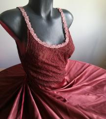 Velicanstvena bordo haljina