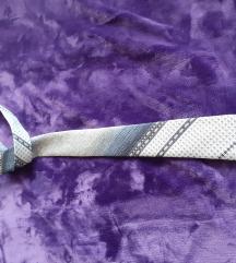 Sivo-plava Centar Art kravata, uzi model