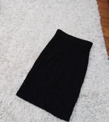 Crna cipkana suknja do kolena!