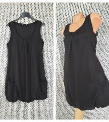 Crna balon haljina sa iskricama *-* vel M