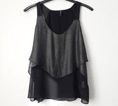 *SALE* Crna majica sa štrasom