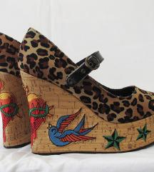 SNIZENJE Penthouse leopard rockabilly cipele 36.5