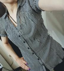 Crno bela prugasta košulja