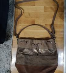 Braon kozna zenska torba