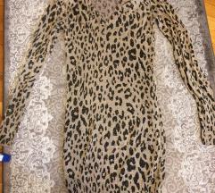 zara haljina leopard print