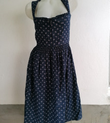 Bavarska teget haljina