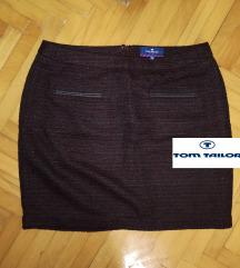 TOM TAILOR bordo suknja sa dekorativnim žepovima