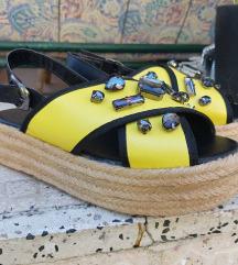 Zute sandale na platformu HITNO