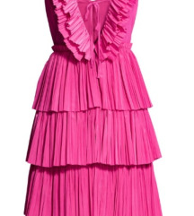 H&M PLEATED DRESS 36 NOVO