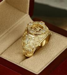 muski prsten 18k pozlata