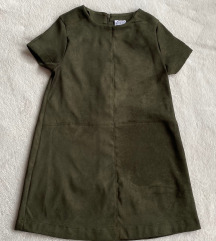 Nova Zara haljina za devojcice od vestacke koze