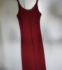 Bordo letnja haljinica