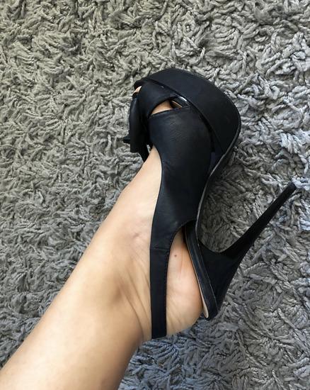 Crne sandale sa masnicom ***SNIŽENO***