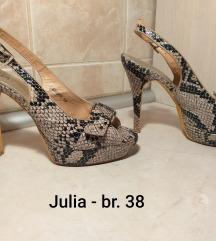 Julia sandale stikle animal zmijski print br.38