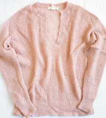 Prljavo roze mekani džemper XS i S