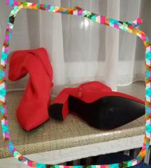 Čizme streč crvene