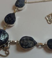 Ogrlica sodalit poludragi kamen