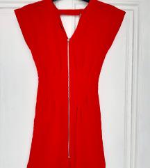Zara crvena haljina, S veličina