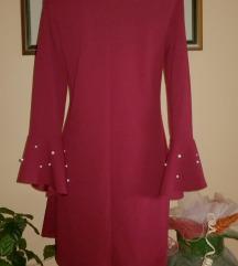 Bordo haljina sa bisercicima