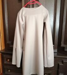 Bež haljina kao nova 1500