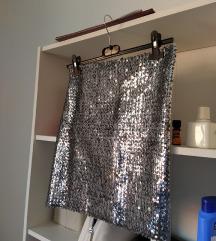 Nova sequin srebrna suknja