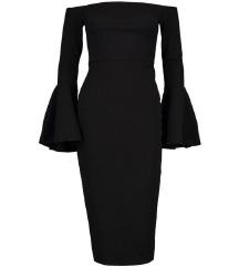 Amisu crna svecana haljina