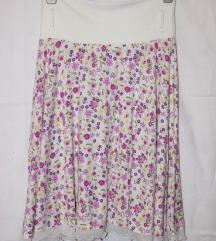 Suknja sa cvetnim dezenom