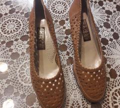 SANG Italy kozne pletene camel cipele NOVE