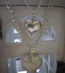 Srebrni lancic, ogrlice, novo