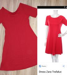 Zara Trafaluc crvena haljina NOVO