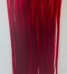 Crvena kosa na klipse