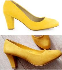 Novo zute salonke cipele